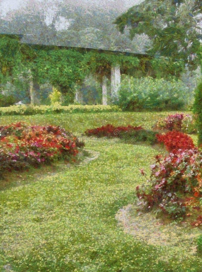 Pięknych angielszczyzn ogrodowy obraz ilustracja wektor