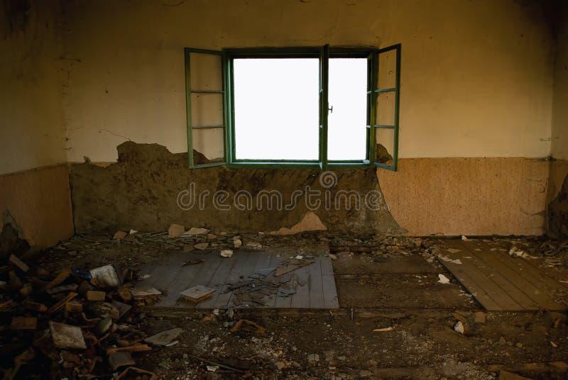 Pièce abandonnée photo libre de droits