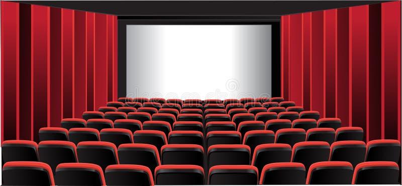 Pièce affichante rouge ; cinéma illustration de vecteur
