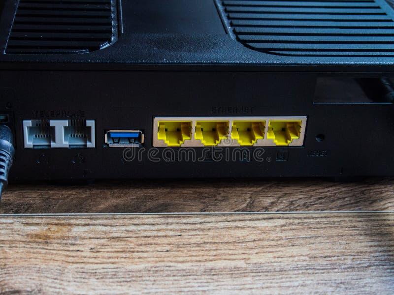 Pièce arrière de routeur images stock