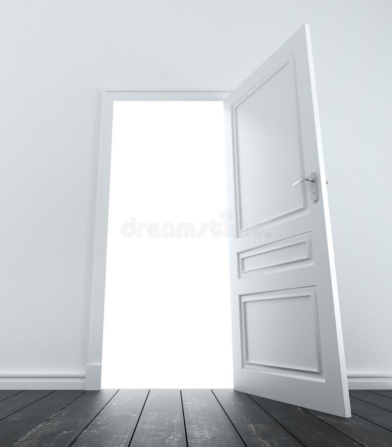 Pièce avec la porte illustration libre de droits