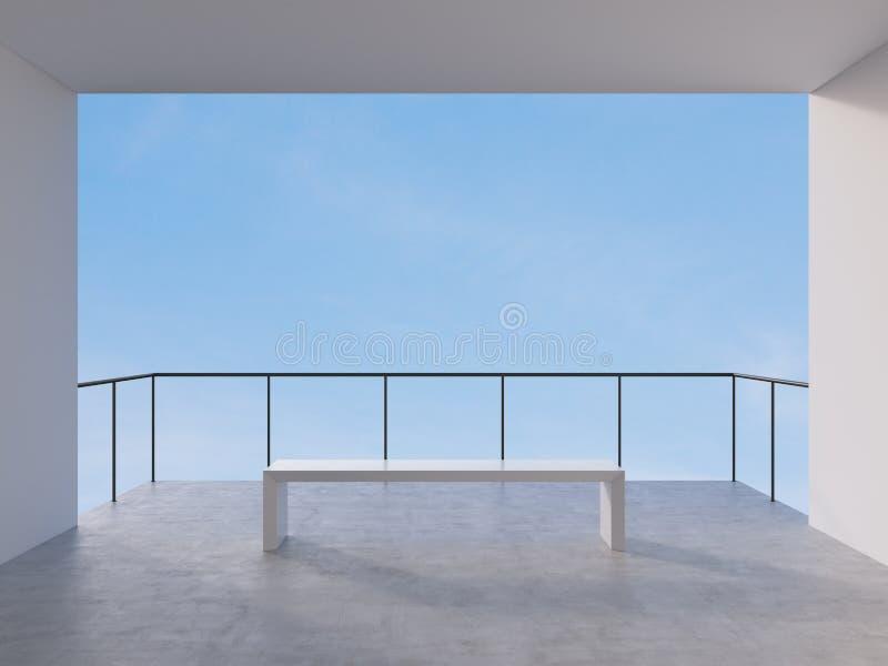 Pièce avec le balcon illustration de vecteur
