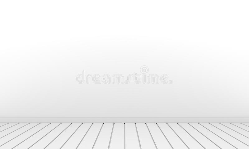Pièce avec le plancher blanc de blanc de pièce de mur illustration de vecteur