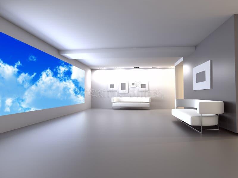 Pièce avec le sofa illustration libre de droits