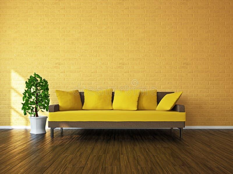 Pièce avec le sofa et une centrale photographie stock