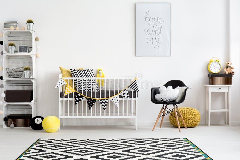 Pièce bien conçue pour un bébé photographie stock libre de droits