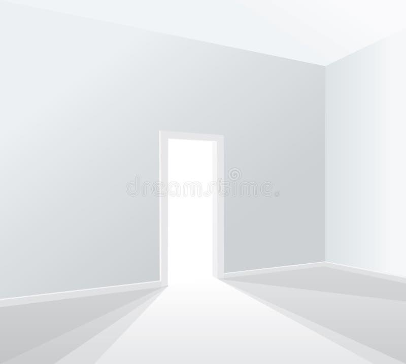 Pièce blanche légère illustration de vecteur