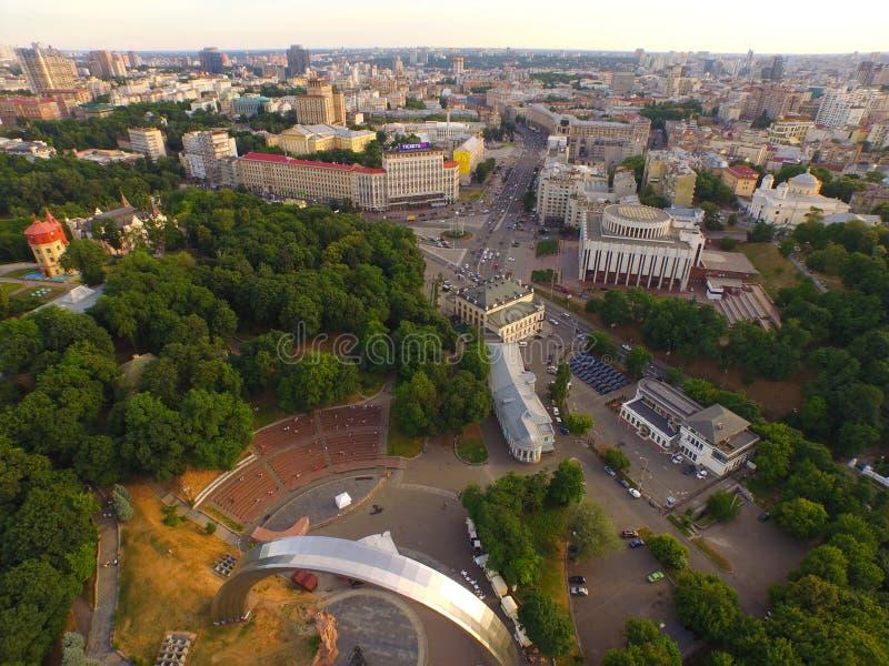 Pièce centrale de Kyiv Ukraine de la ville photos libres de droits