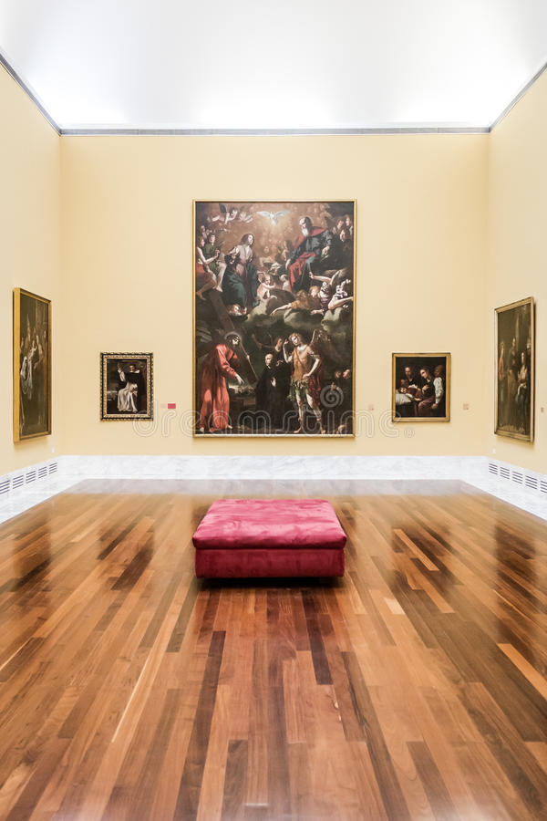 Pièce chez Museu de Belles Arts De Valence images libres de droits
