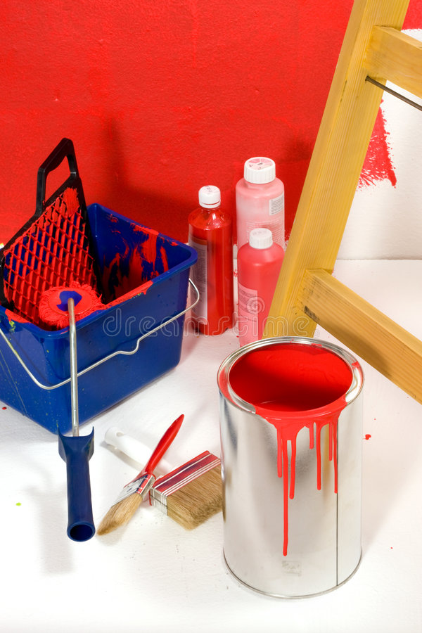 Pièce colorée rouge image libre de droits