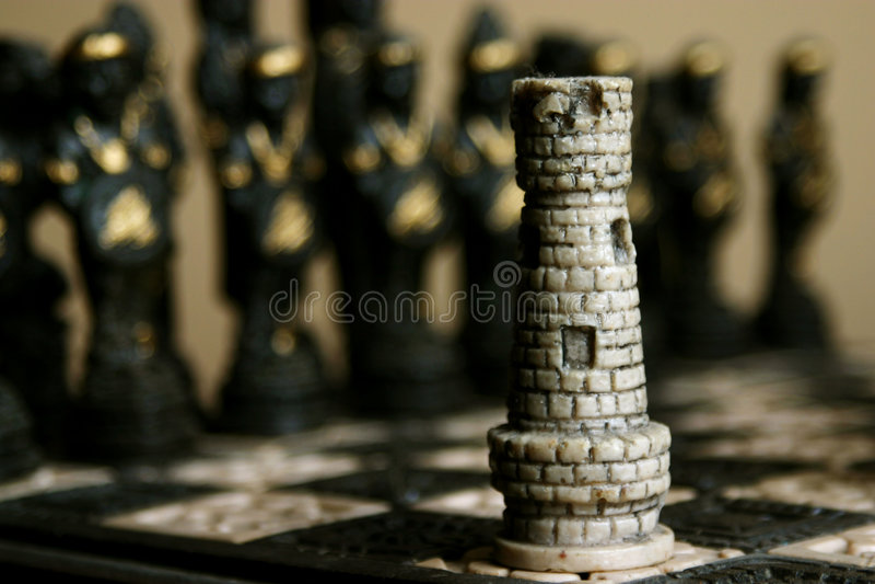 Pièce d'échecs photographie stock