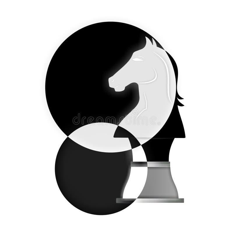 Pièce d'échecs de cheval illustration de vecteur