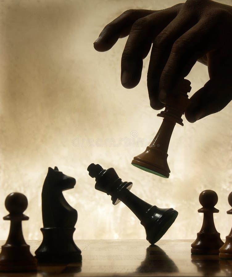 Pièce d'échecs mobile de main photo libre de droits