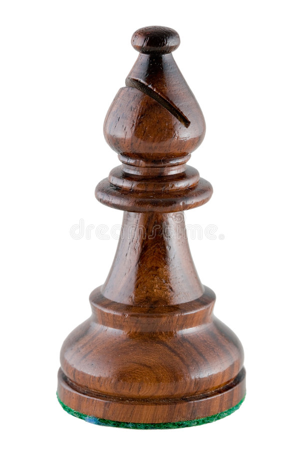 pièce d'échecs noire d'évêque photographie stock