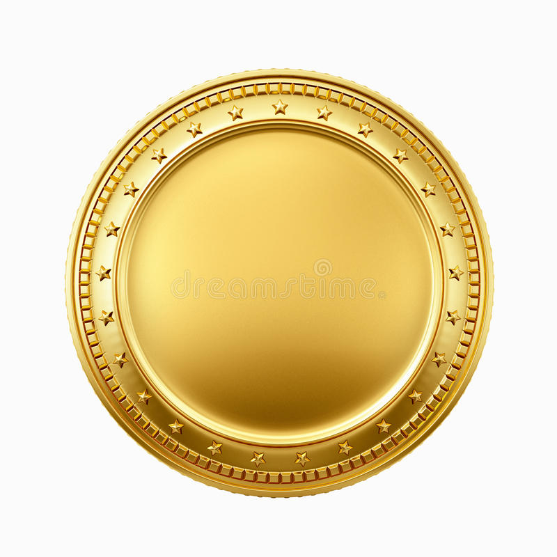 Pièce d'or image libre de droits