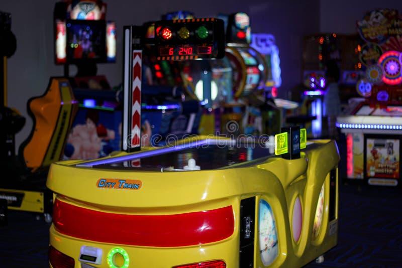 Pièce d'arcade photographie stock libre de droits