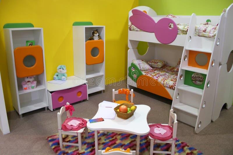 Pièce d'enfant, salle de jeux photos stock