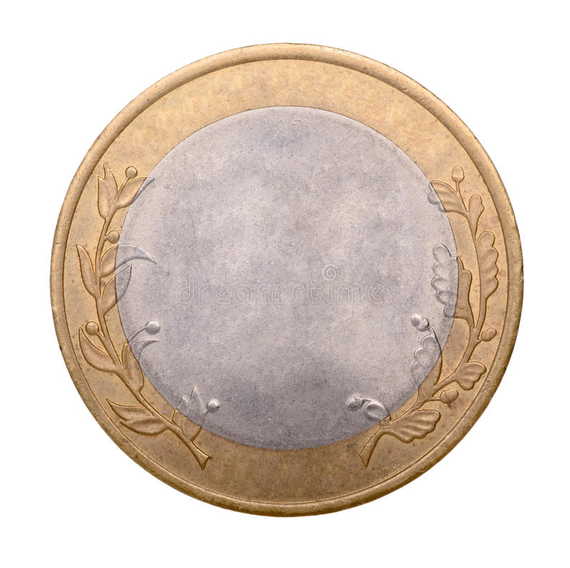 Pièce d'or et en argent vide image stock