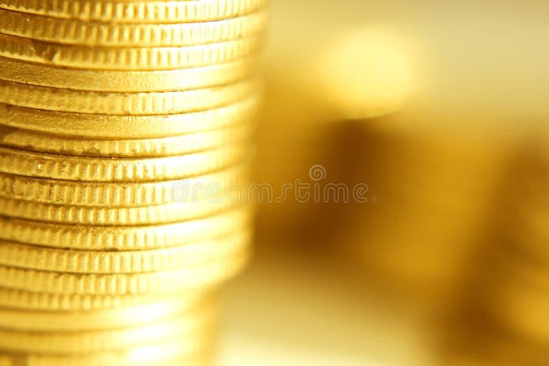 pièce d'or proche vers le haut photographie stock libre de droits