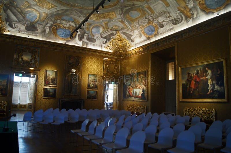 Pièce d'or royale de Palazzo Madama de palais de l'Italie Turin photo libre de droits