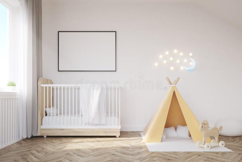 Pièce de bébé avec une lune illustration libre de droits