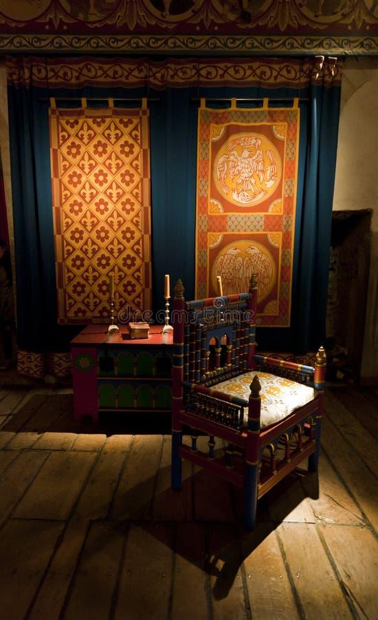 Pièce de chambre de rois de château de Douvres images stock