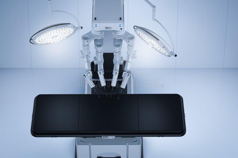 Pièce de chirurgie avec la chirurgie robotique illustration libre de droits