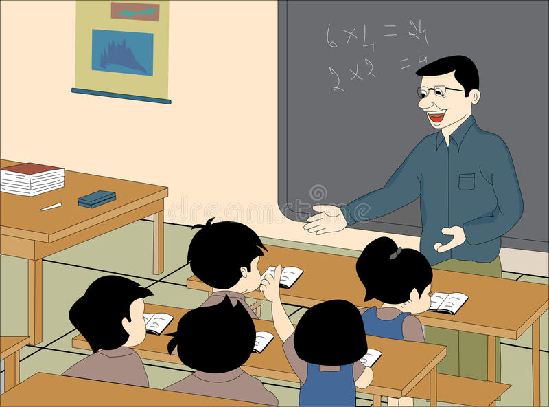Pièce de classe illustration libre de droits