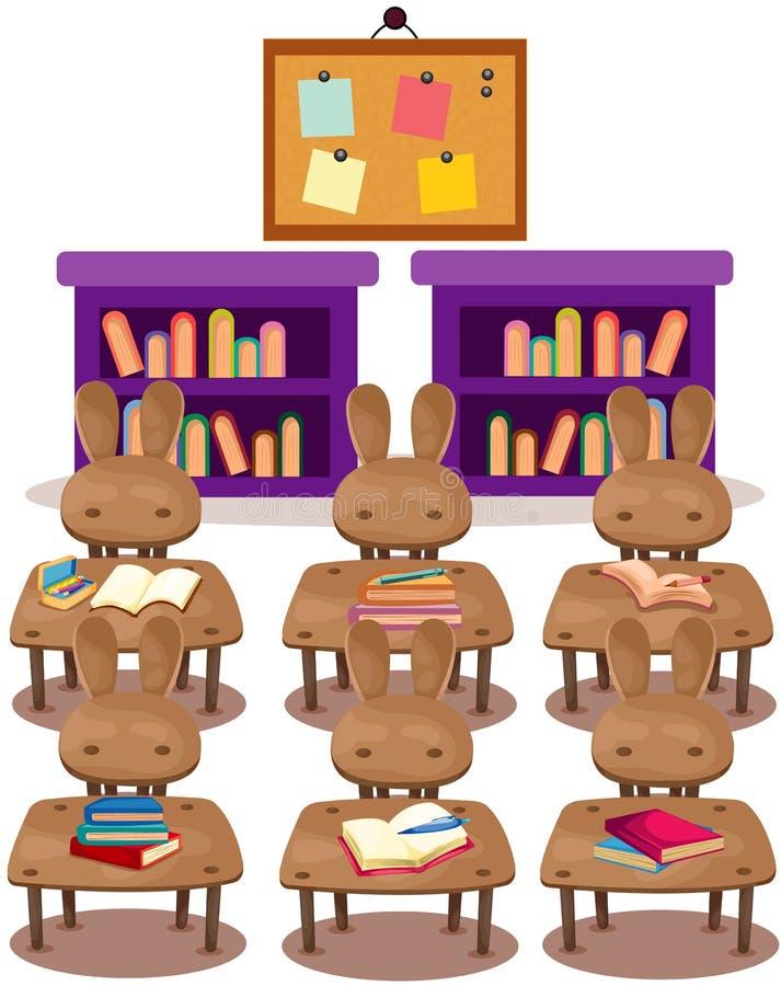 Pièce de classe de jardin d'enfants illustration de vecteur