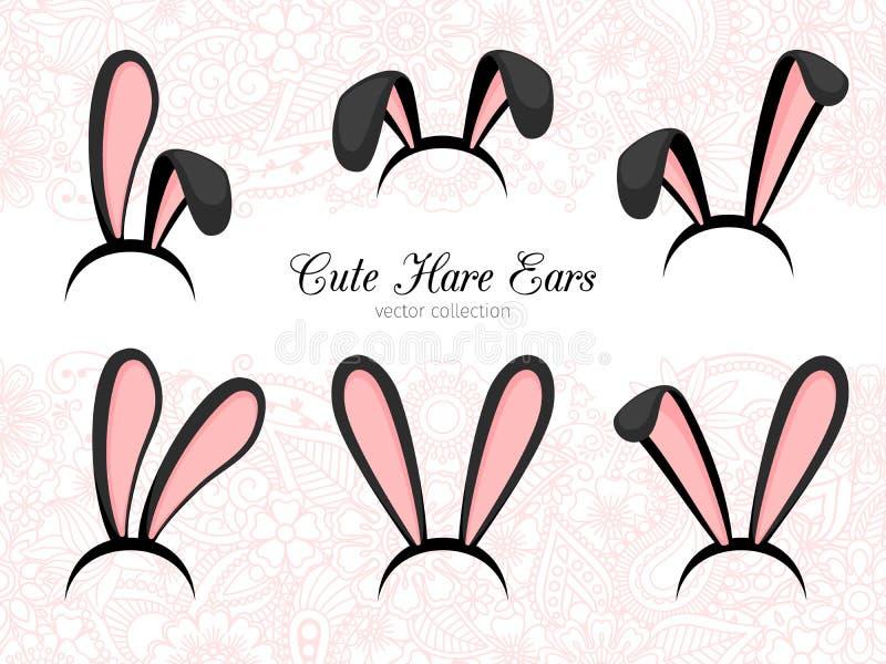 Pièce de costume d'oreilles de lièvres illustration stock