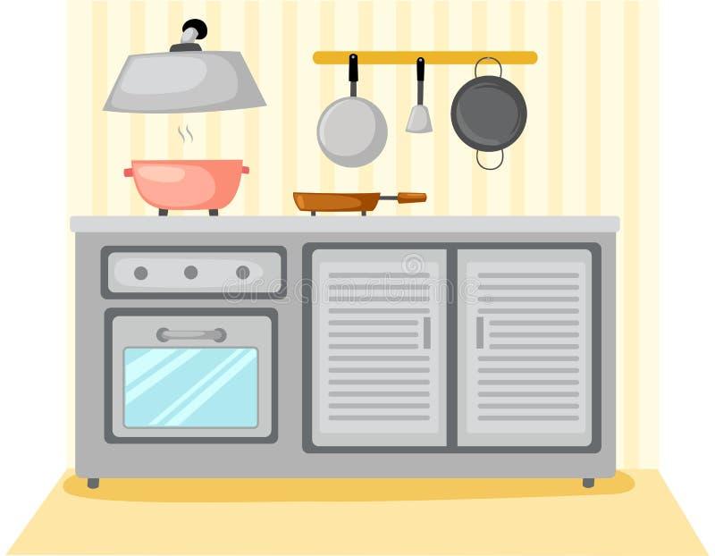 Pièce de cuisine illustration de vecteur