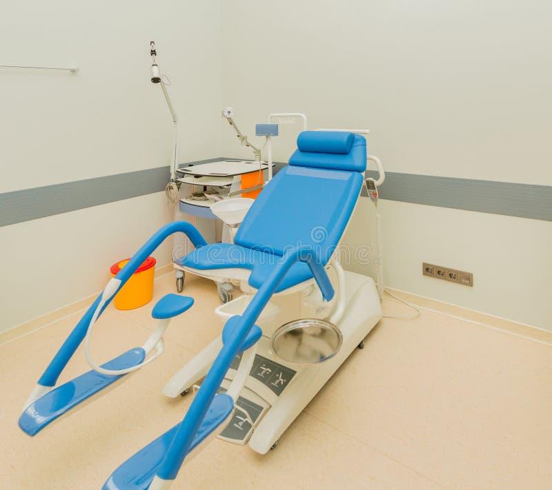Pièce de gynécologie dans l'hôpital image libre de droits