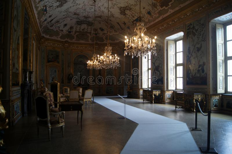 Pièce de Japonais de Stupinigi- de palais royal de l'Italie, Turin, pièce gamming images libres de droits