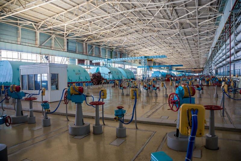 Pièce de machines de centrale nucléaire, de générateur et de valves photo libre de droits