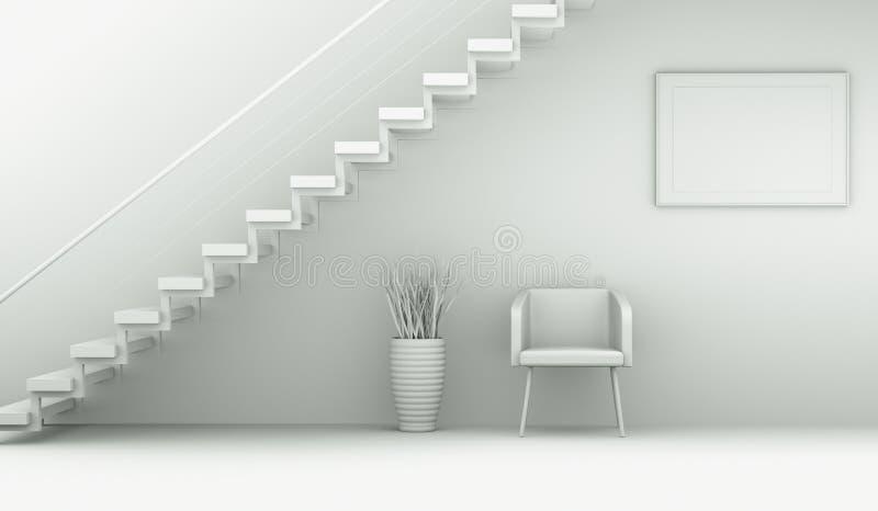 Pièce de modèle de conception intérieure avec la chaise illustration de vecteur