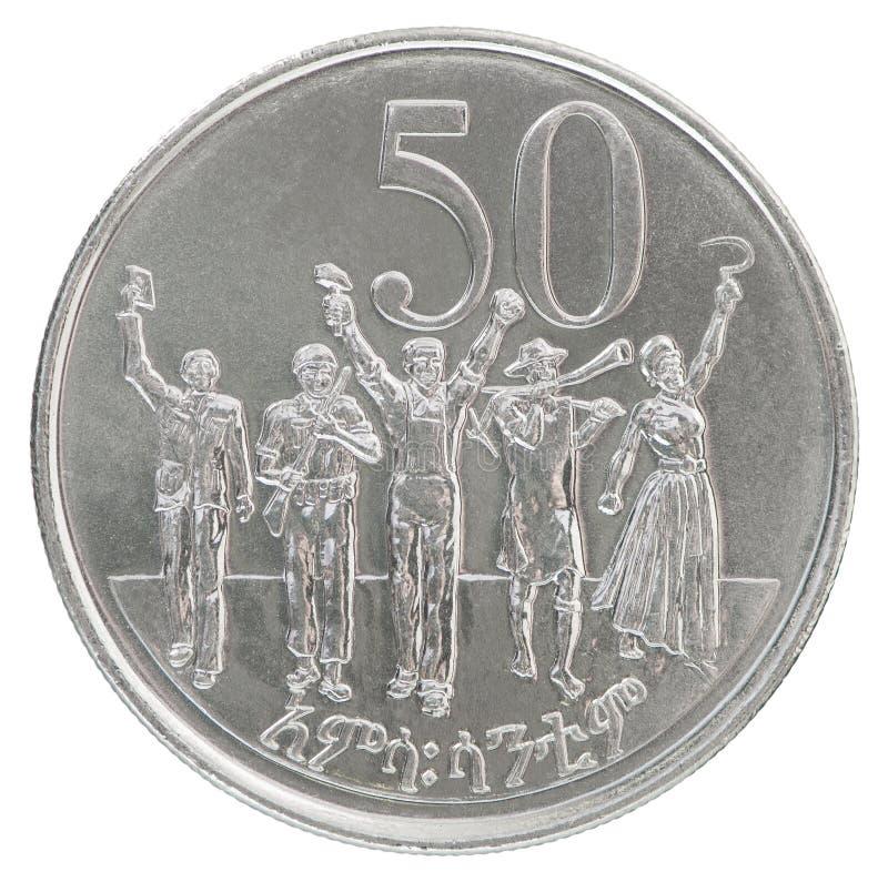 Pièce de monnaie éthiopienne de cents photo libre de droits