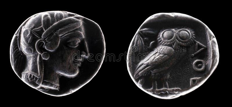 Pièce de monnaie antique photos libres de droits