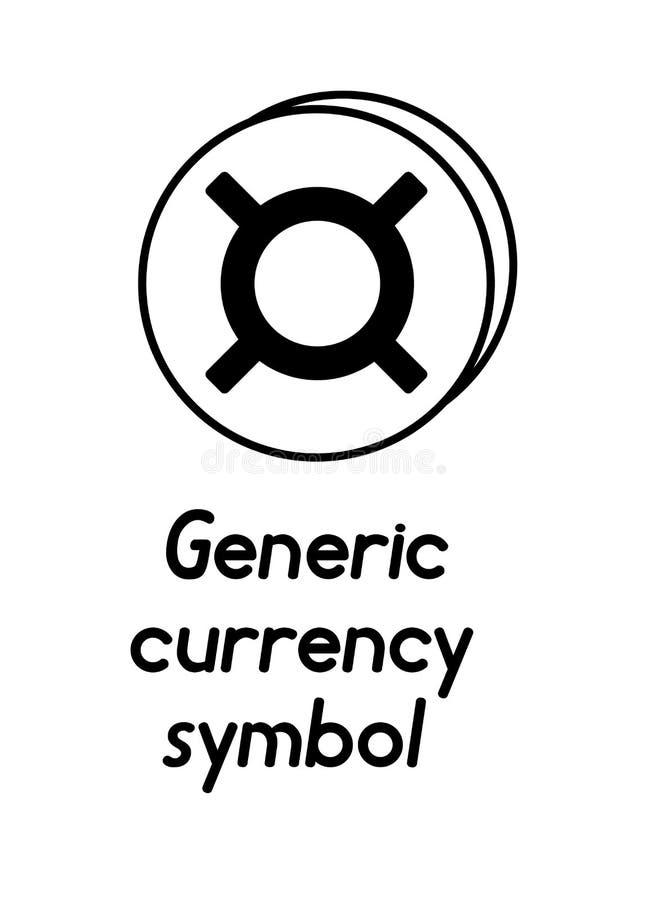 Pièce de monnaie avec le signe générique de symbole monétaire illustration de vecteur