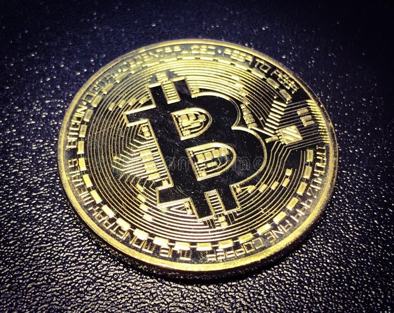 Pièce de monnaie de Bitcoin photographie stock