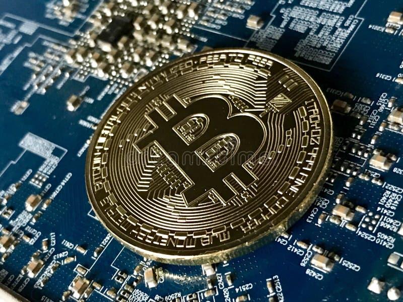 Pièce de monnaie de Bitcoin photographie stock libre de droits