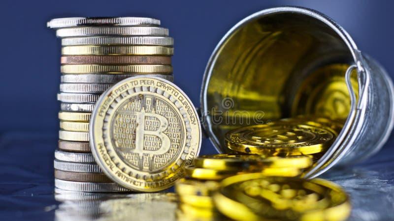 Pièce de monnaie de Bitcoin Concept de Cryptocurrency images stock