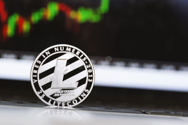 Pièce de monnaie de crypotocurrency de Litecoin images stock