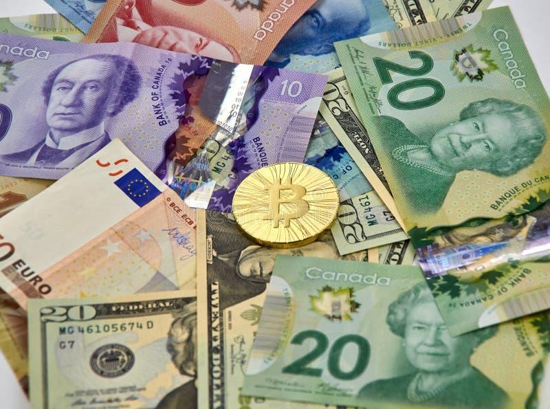 Pièce de monnaie de cryptocurrency de Bitcoin photos stock