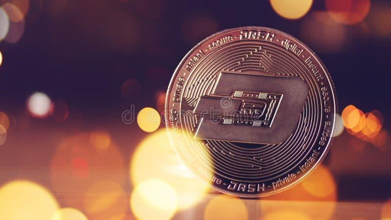 Pièce de monnaie de cryptocurrency de TIRET images libres de droits