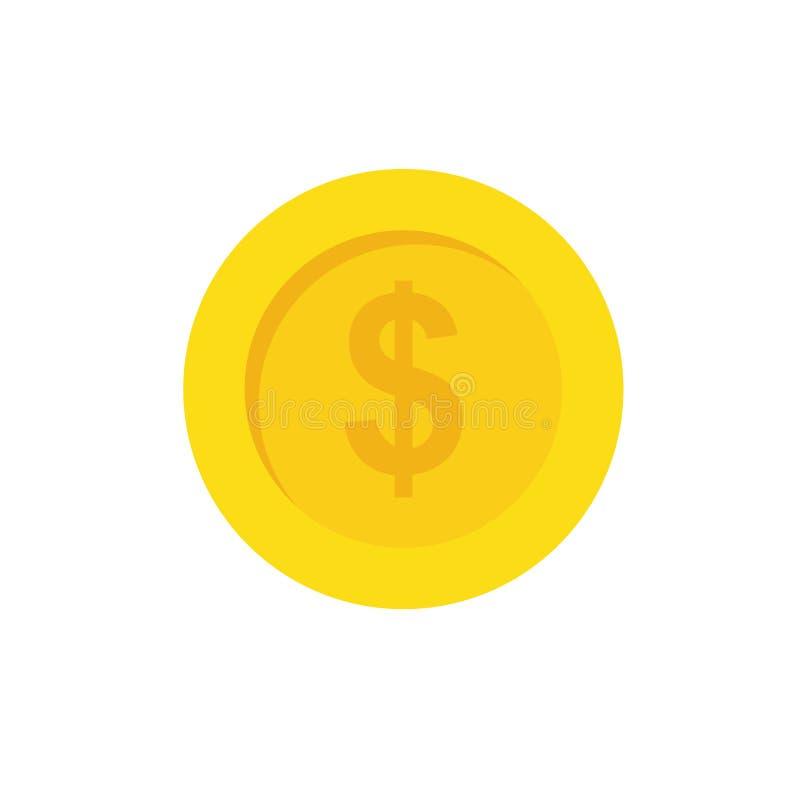Pièce de monnaie d'argent illustration libre de droits