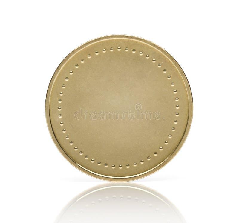 Pièce de monnaie d'or blanc photo libre de droits