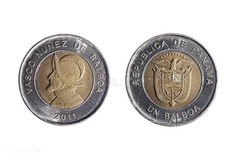 Pièce de monnaie d'un balboa image libre de droits