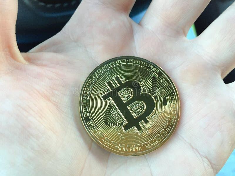 Pièce de monnaie de Bitcoin photo stock
