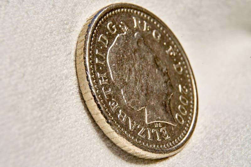 Pièce de monnaie de cinq penny photographie stock