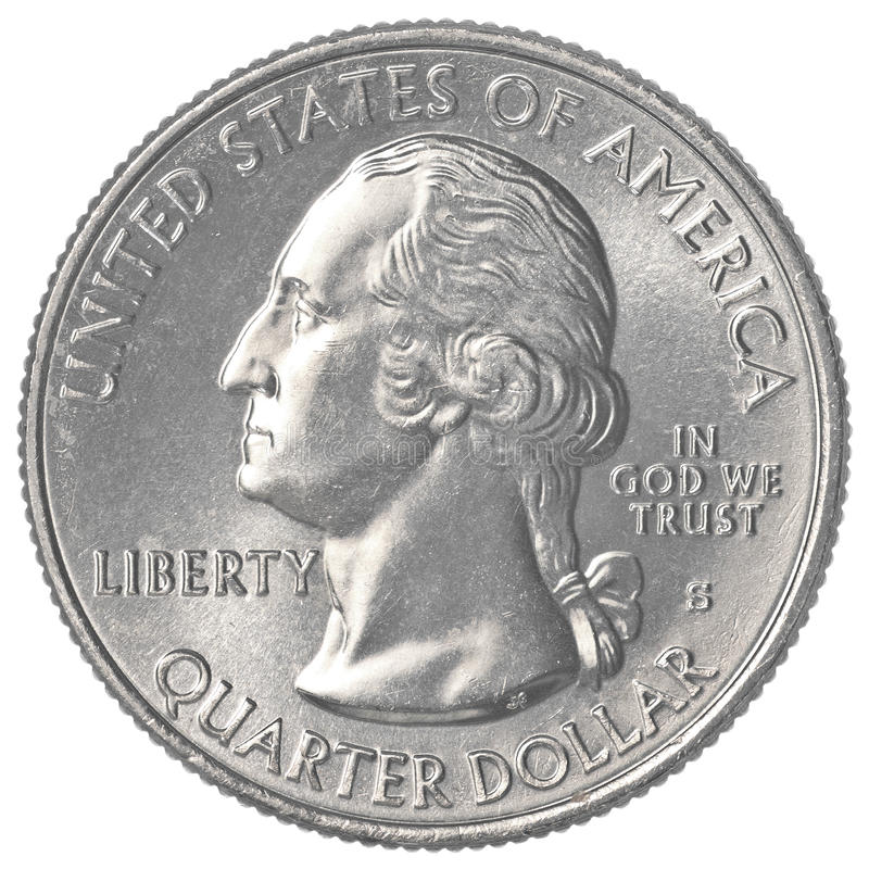 Pièce de monnaie de l'Américain un quart photographie stock